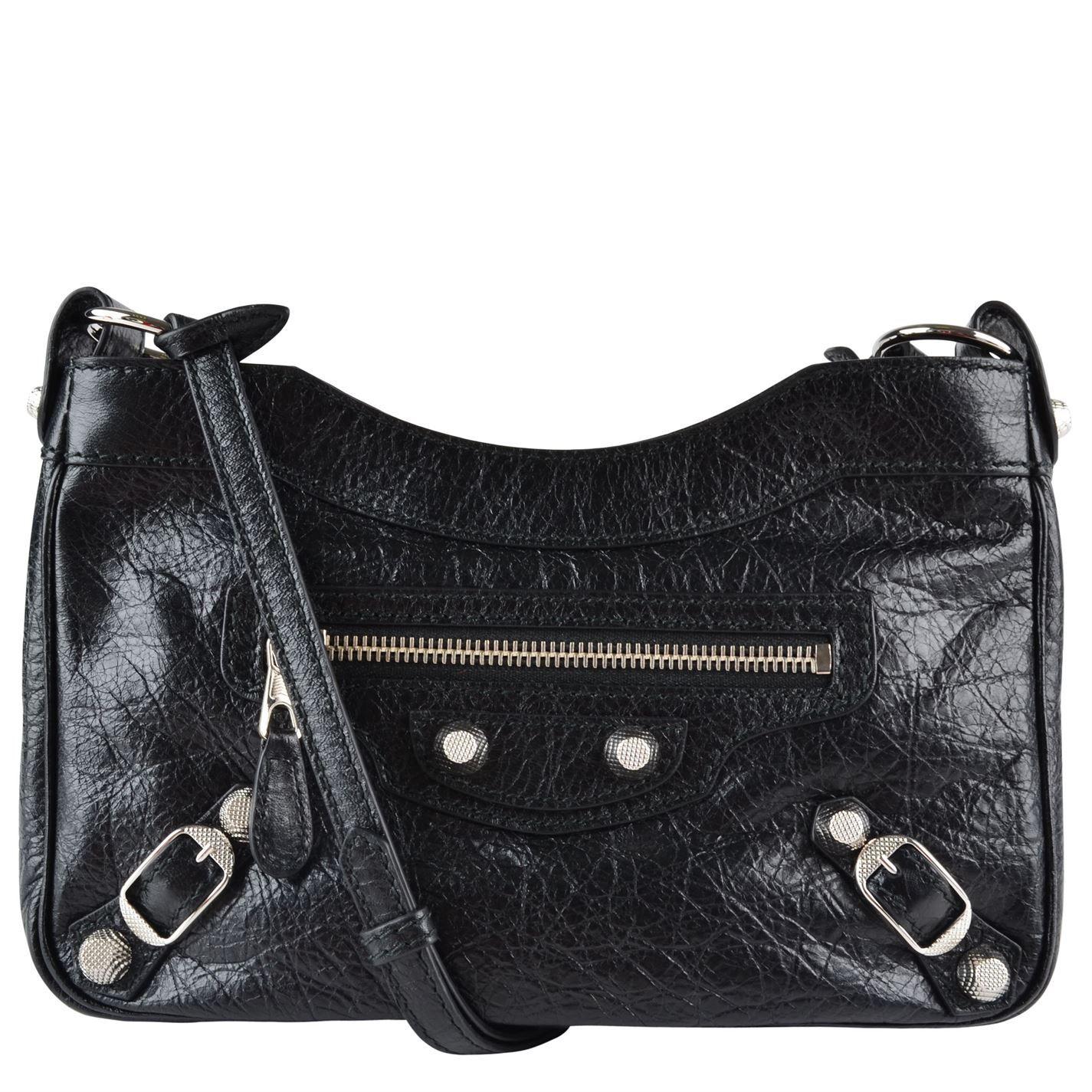 a5e6ef6ecd Lyst Balenciaga Clic Hip Suede Shoulder Bag In Natural