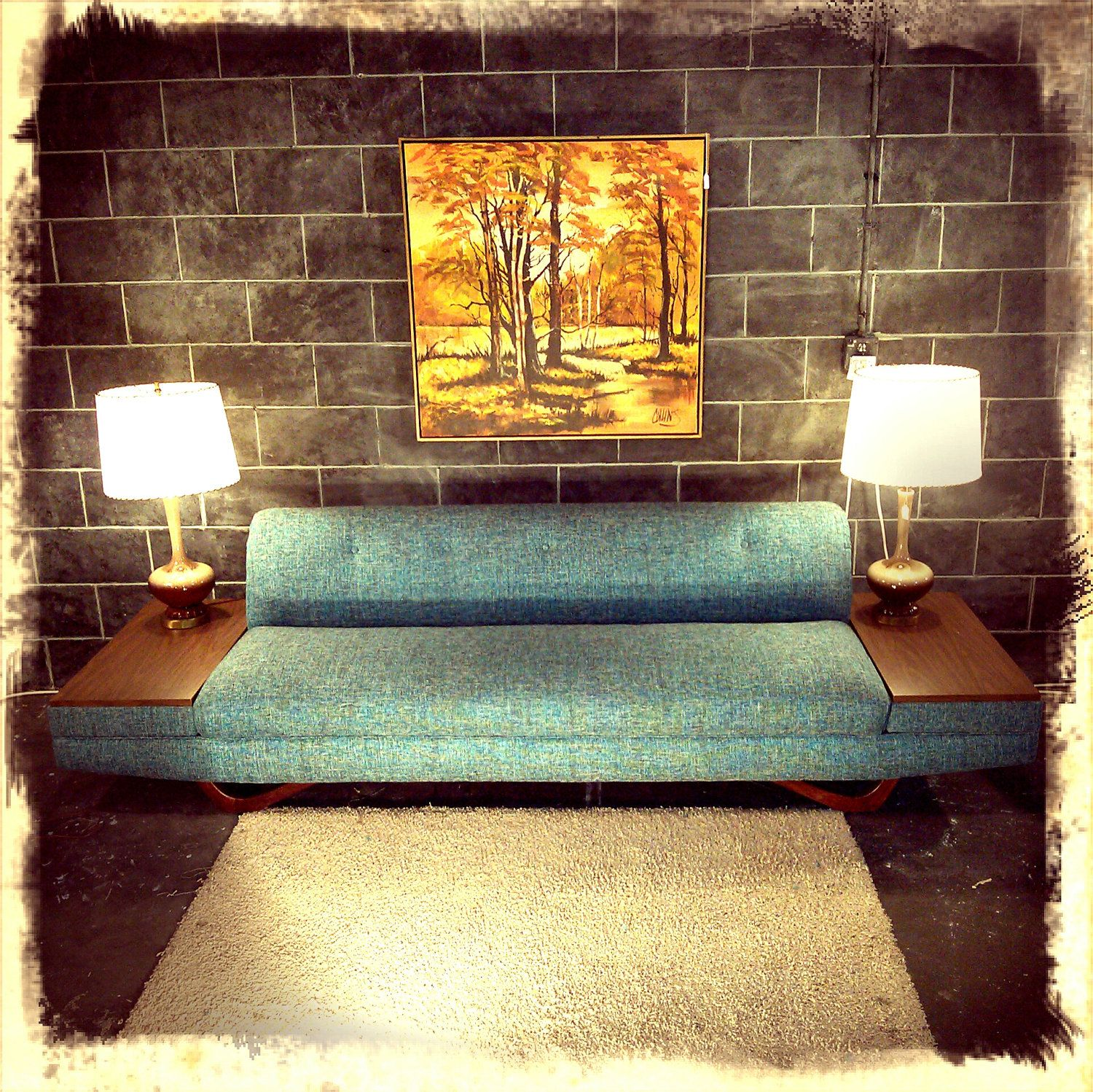 Best Long Low Mid Century Modern Mad Men Adrian Pearsall Blue 400 x 300