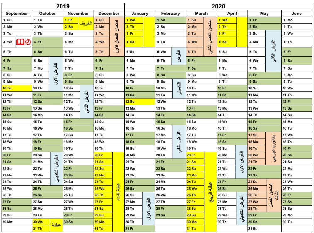 رزنامة الفروض و الاختبارات و العطل المدرسية للموسم الدراسي 2019 2020 منتديات بوابة الونشريس Periodic Table Diagram