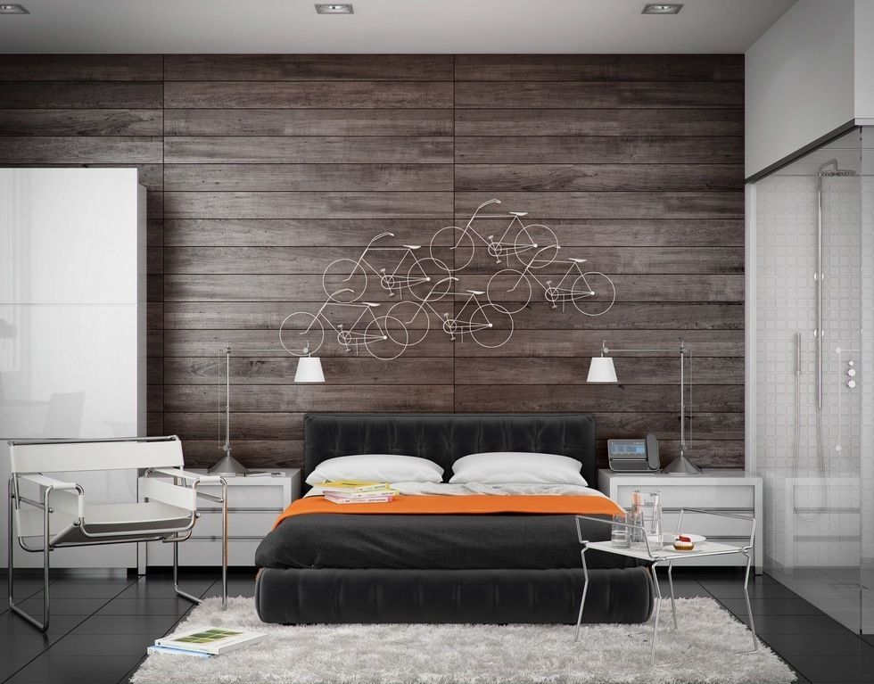 bedroom-design-ideas-with-interior-wood-paneling-table- - Bedroom-design-ideas-with-interior-wood-paneling-table-lamp-white
