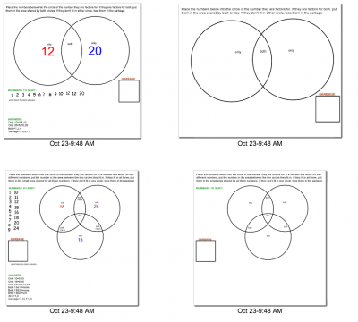 Smartboard lesson on teaching factors with venn diagrams smartboard lesson on teaching factors with venn diagrams ccuart Image collections