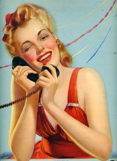 Výsledek obrázku pro pinterest girl with telephone