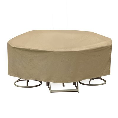 Round Table And High Back Chair Cover Size 30 H X 108 W X 108