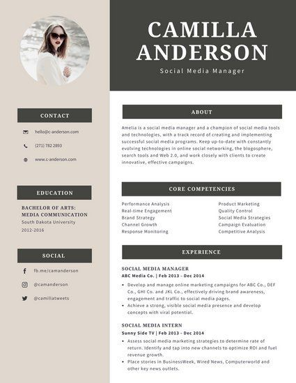 Impact One Page Professional Resume Template Cv With Formal