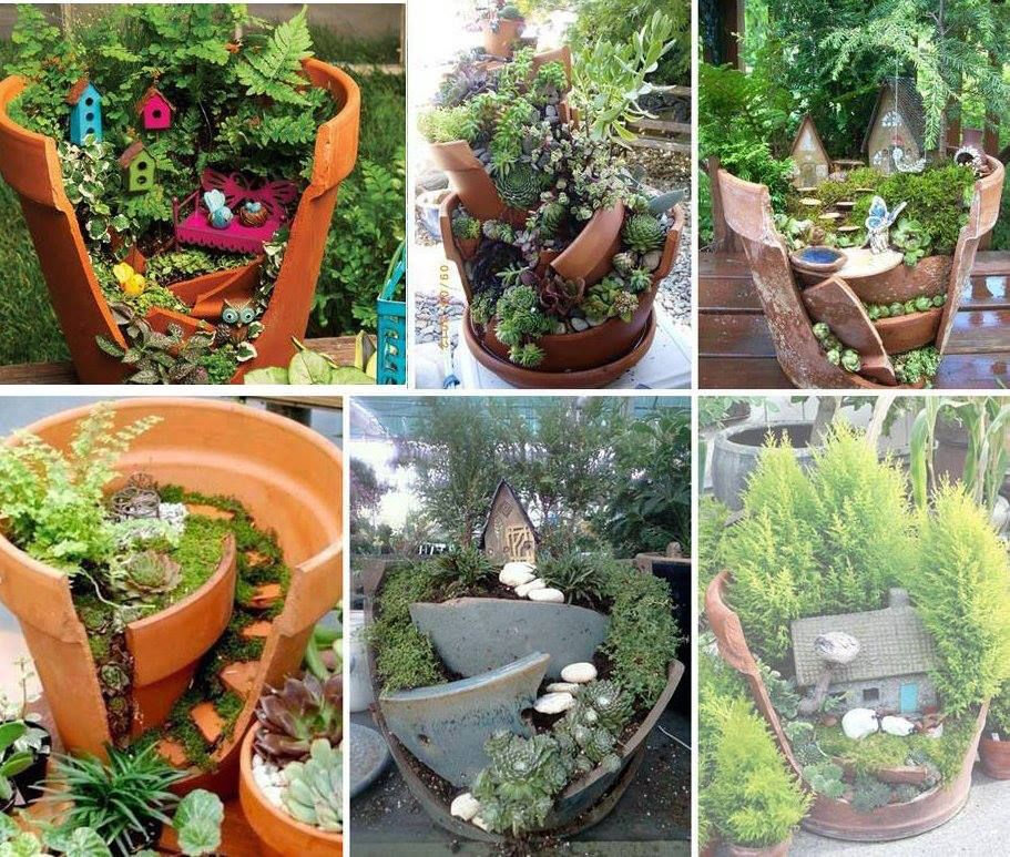 Broken pot gardens ideas diy pinterest broken pot garden broken pot gardens ideas workwithnaturefo