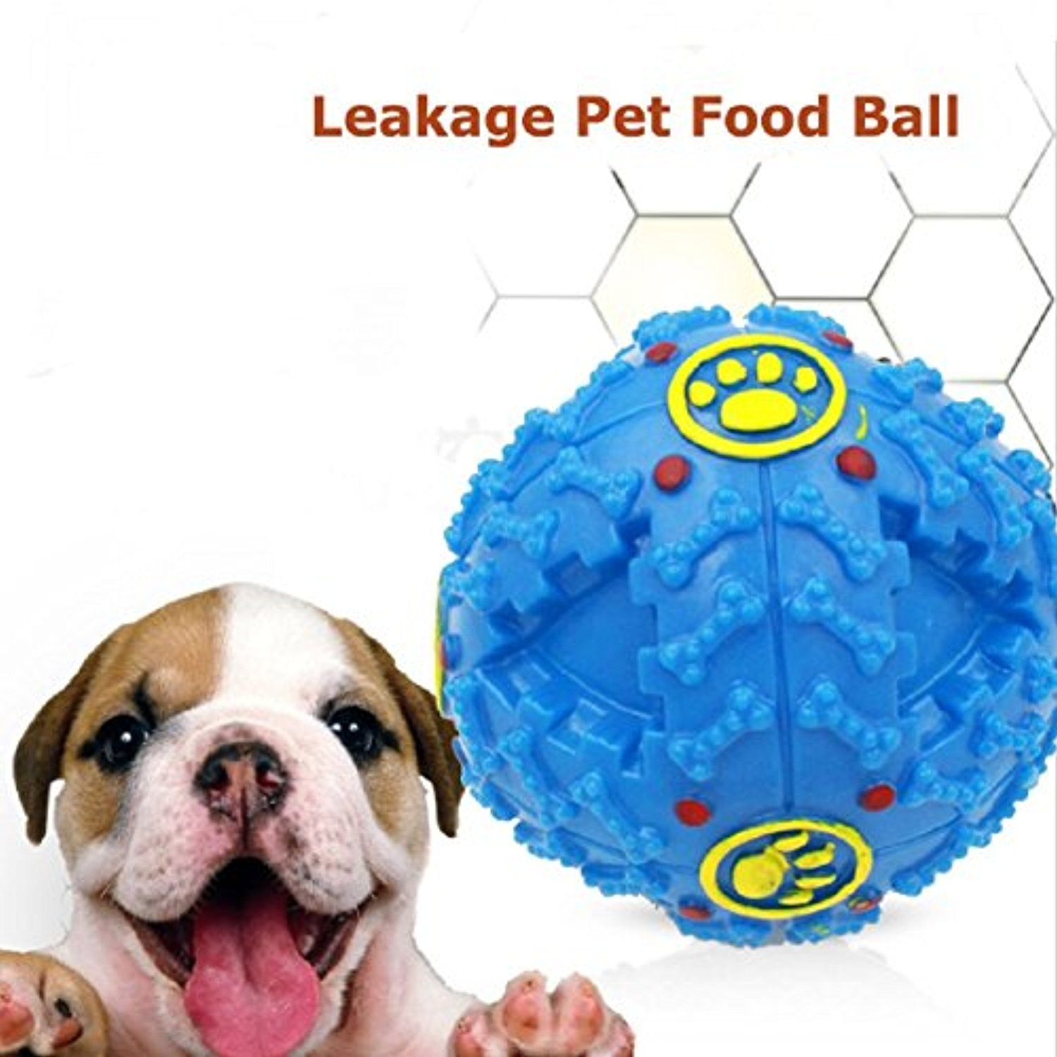 Gessppo Squeaky Giggle Quack Sound Toy Ball Training Dogs Food