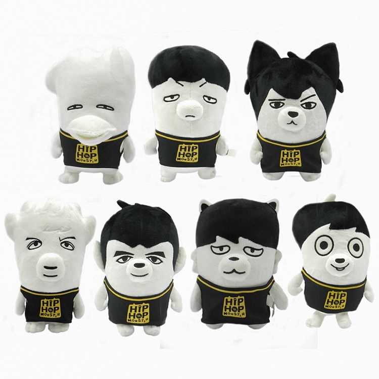 Official Bts Hiphop Monster Plush Doll Kpop Mall Usa Bts Divertido Hiphop Peluches