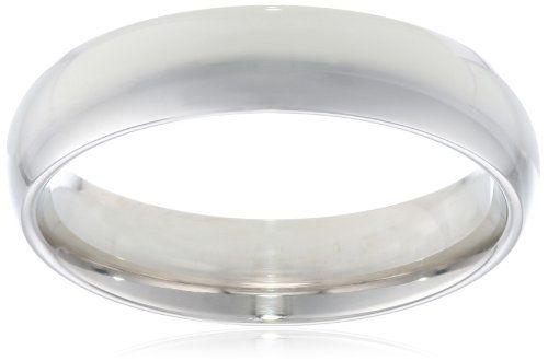 Men's 14k White Gold 5mm Comfort Fit Plain Wedding Band - List price: $664.60 Price: $319.00 Saving: $345.60 (52%) + Free Shipping
