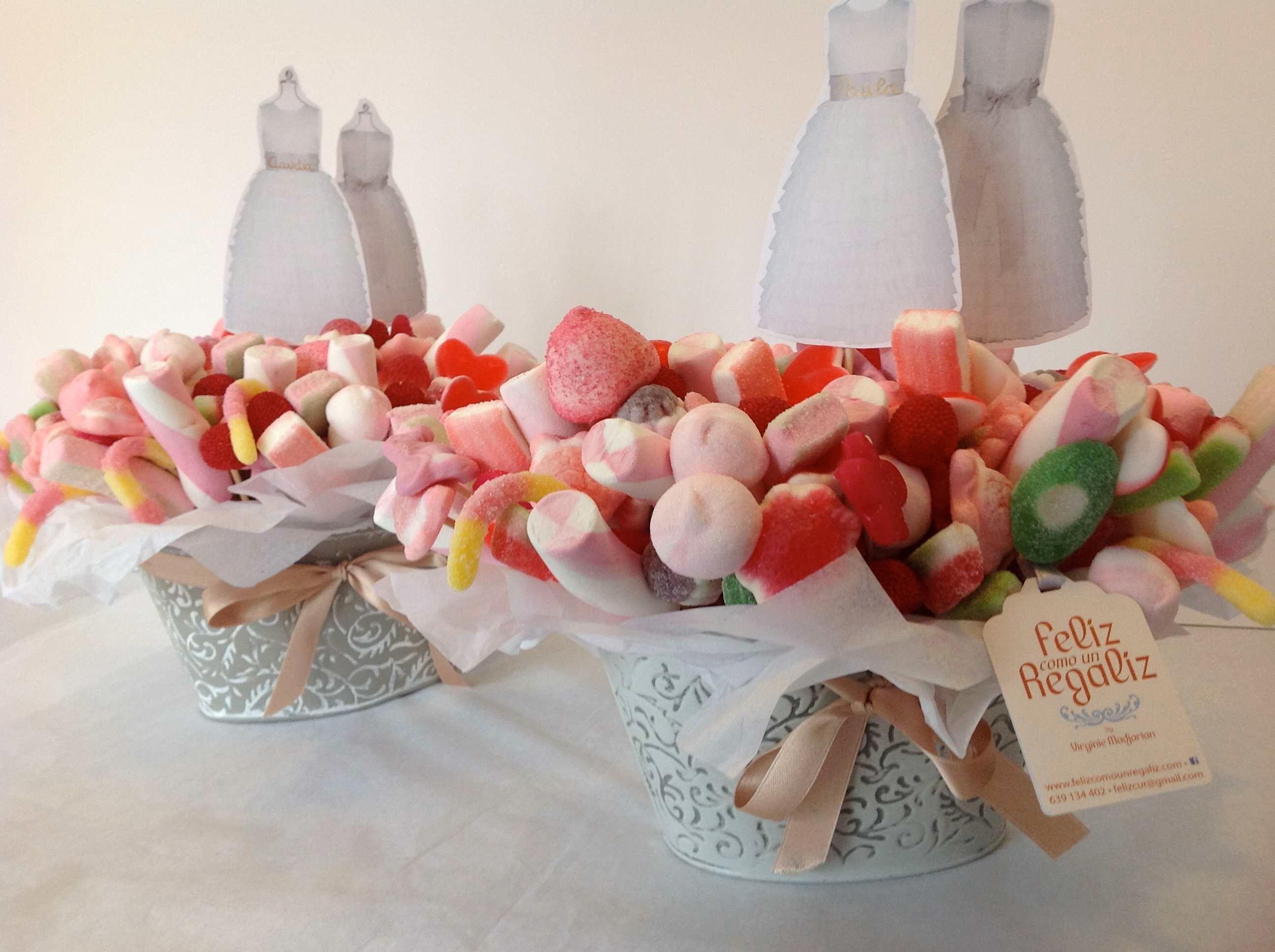 Centros de chuches caramelos y golosinas para mesas - Chuches para bautizo ...