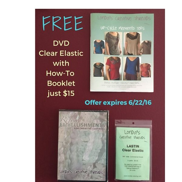 FREE DVD + Lastin Clear Elastic with Up-Cycle Booklet Purchase