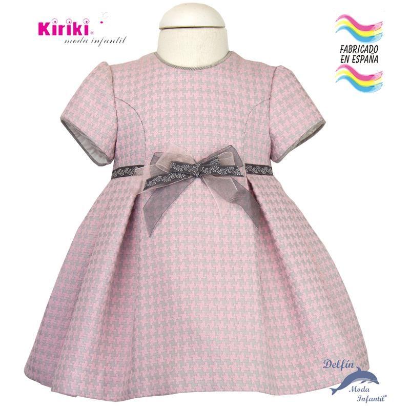 3ca3303340c7 Vestido de bebe KIRIKI manga corta para de gallo