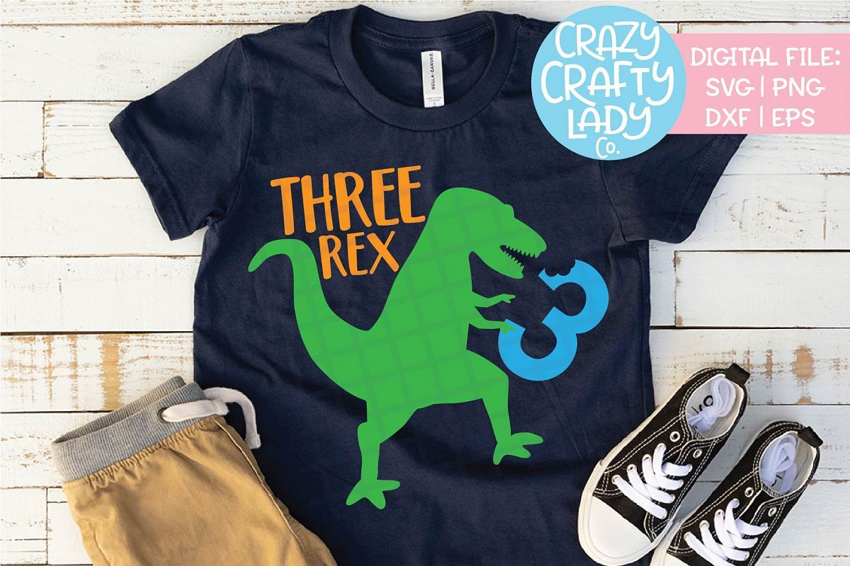 Instant Message Dinosaur Birthday Four-Toddler Short Sleeve TEE