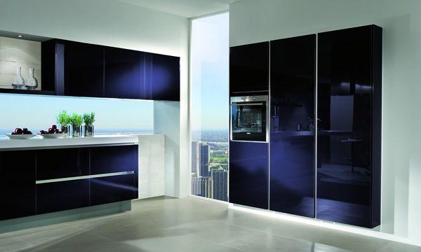 Modern Kitchen Cabinets Blue
