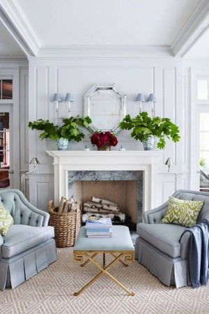 A Typical English Style Living Room In Periwinkle Blue Pretty Home Decor Living Room Designs Home Living Room