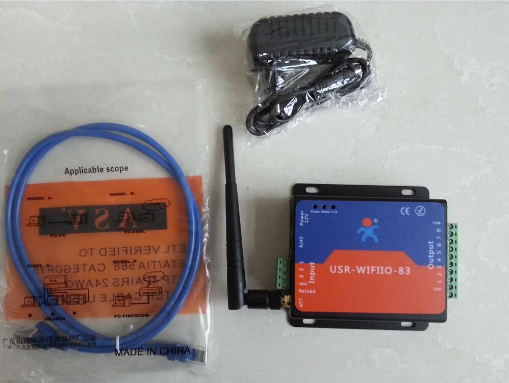 USRIO88 Wifi LAN Network Relay Board with 8 Inputs and 8 Outputs