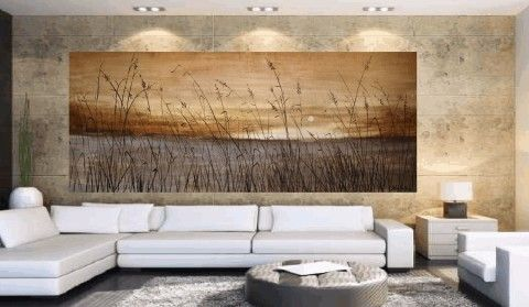 seaside acrylic painting