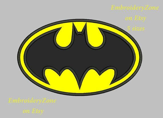 logo batman embroidery design applique super о�