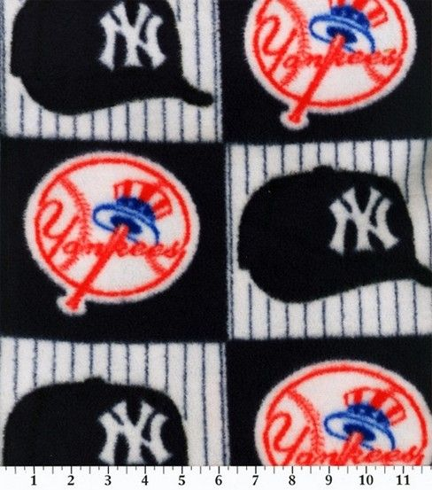New York Yankees Fleece Fabric 58  -Block  6dcadb39e