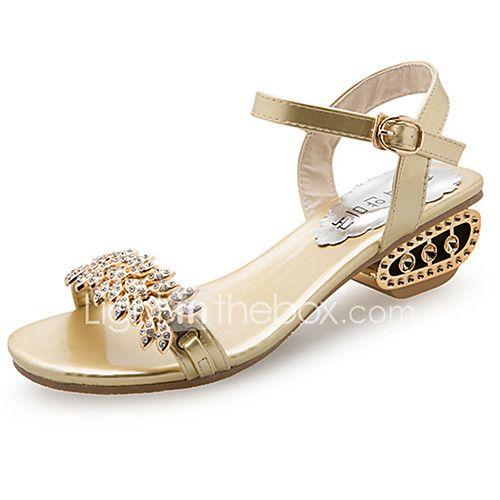 Mujer Zapatos PU Verano Confort Sandalias Tacón Plano Dorado / Plata Sortie D'usine De Prix Pas Cher Commercialisable À Vendre bxFmIoa