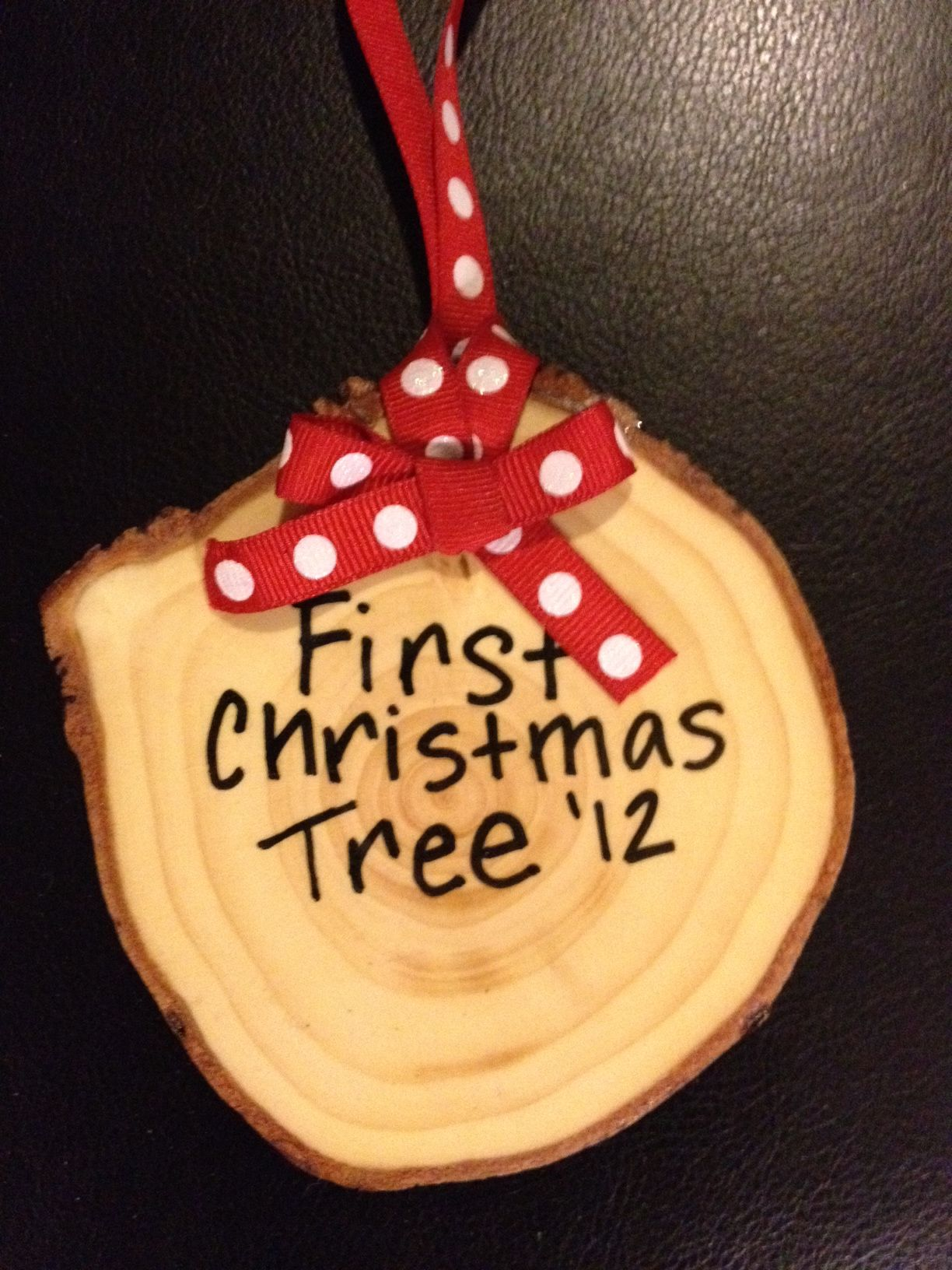 Tree trunk ornament from our 1st Christmas tree!