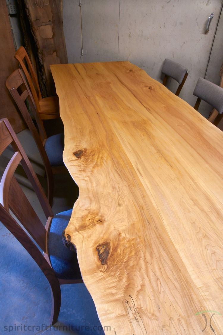 Live Edge Hard Maple Dining Table Maple Dining Table Hardwood Table Dining Table