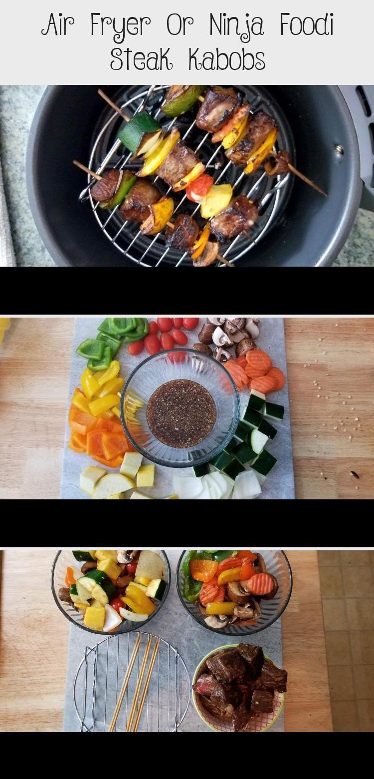 Air Fryer Or Ninja Foodi Steak Kabobs Meat Recipes in