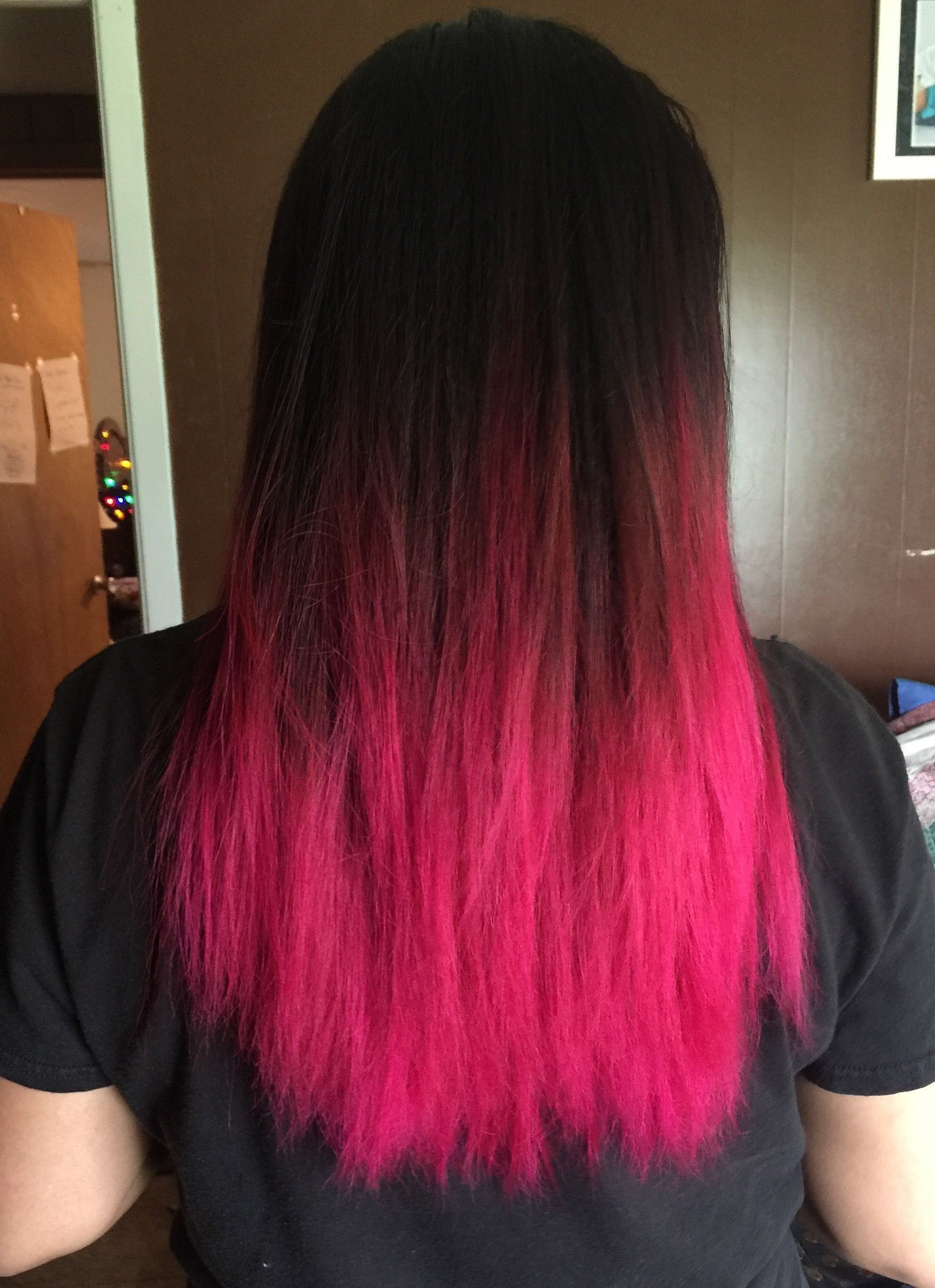 Manic Panic Hot Pink Ombre Hair Color Pink Hair Tips Hot Pink Hair
