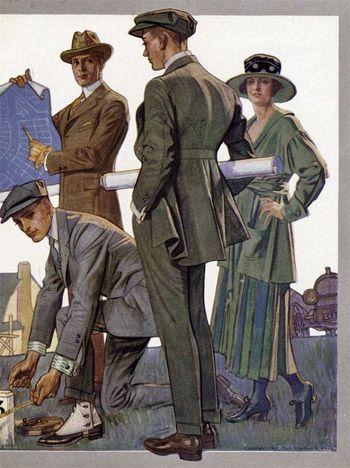 Un déjeuner d'affaires pour deux: est-il convenable qu'un homme et une femme dînent ensemble? (1921)   – Turkish fashion