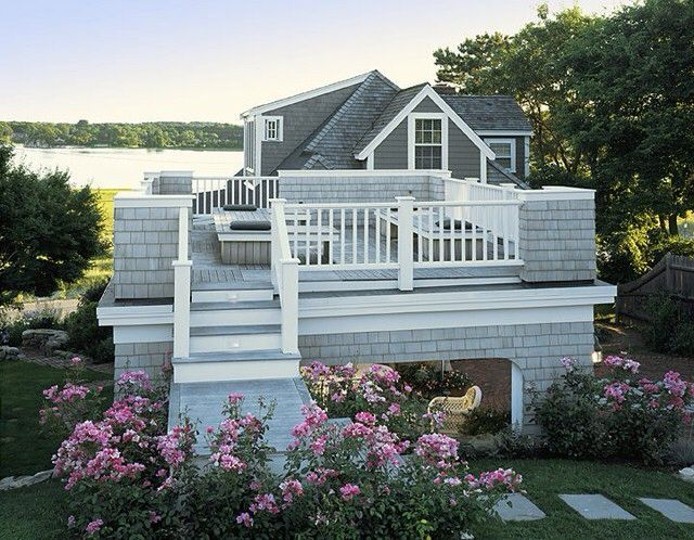A Classic Style Here In New England Why Not Turn A Flat Roof Into A Deck Where You Can Enjoy The Views 360 Degrees House Styles House Outdoor Decor