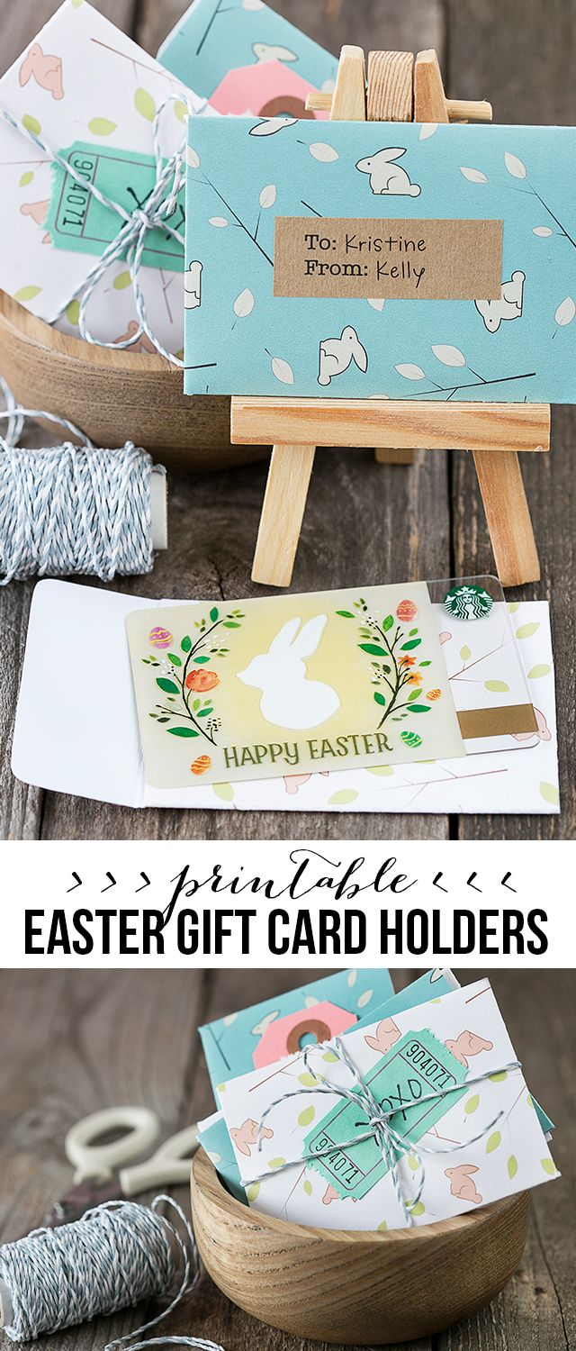 Adorable printable gift card holders for easter embellish with adorable printable gift card holders for easter embellish with washi tape gift tags and negle Gallery