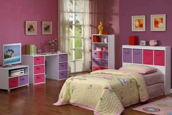 1000 images about Bedroom on PinterestPink blue Hot pink and. Purple room for girls