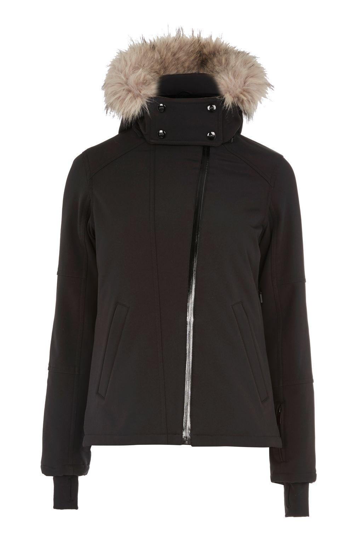 5b7bf44f4 Black Padded Ski Jacket by Topshop SNO