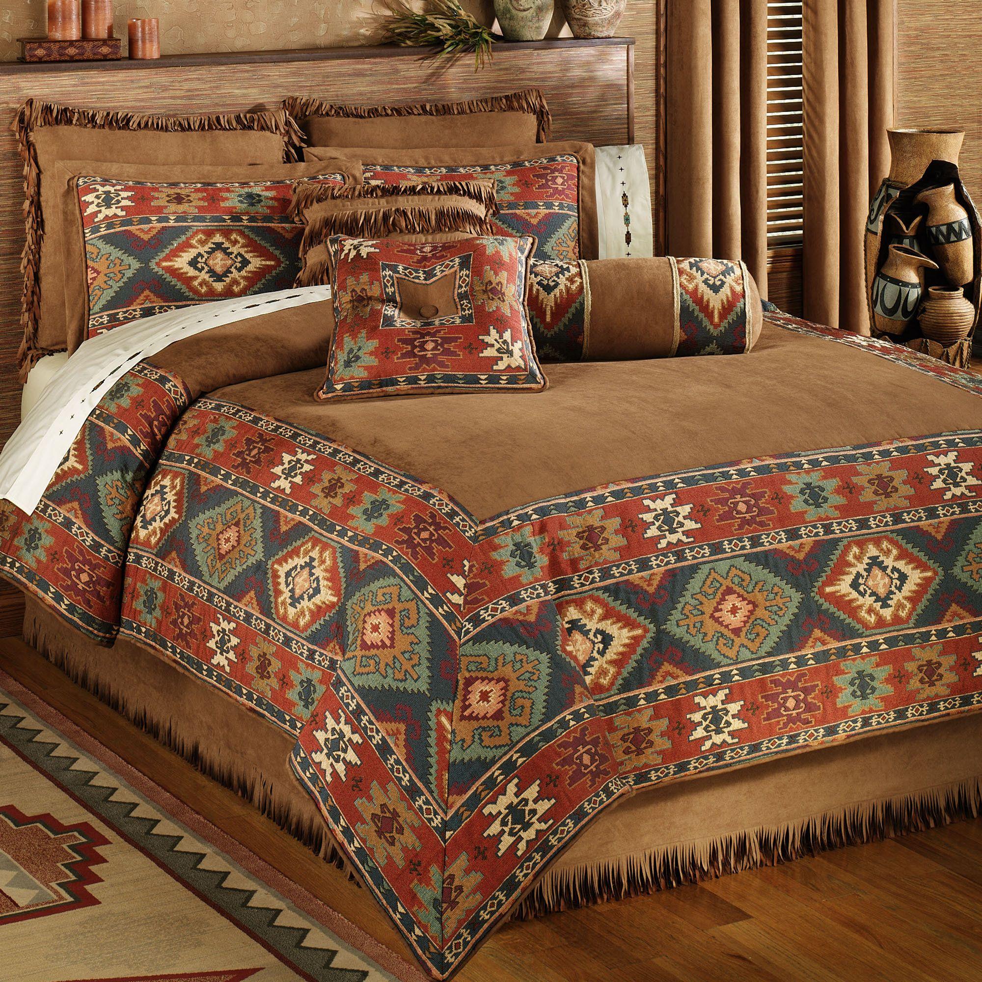 Native Bedroom Bedding Ideas Rustic