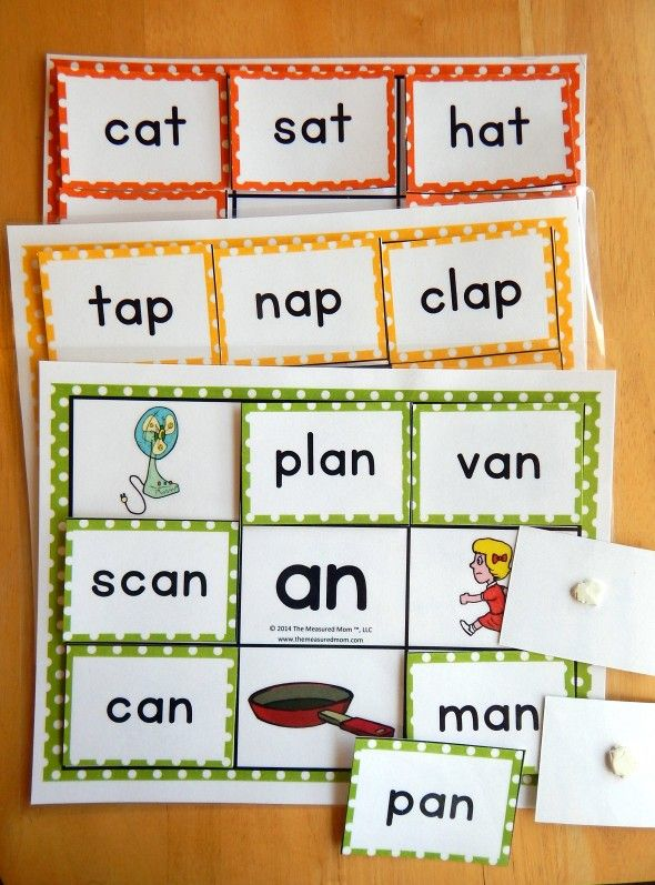 Short Vowel Word Family Mats Games The Measured Mom Phonics Teaching Kids Word Families