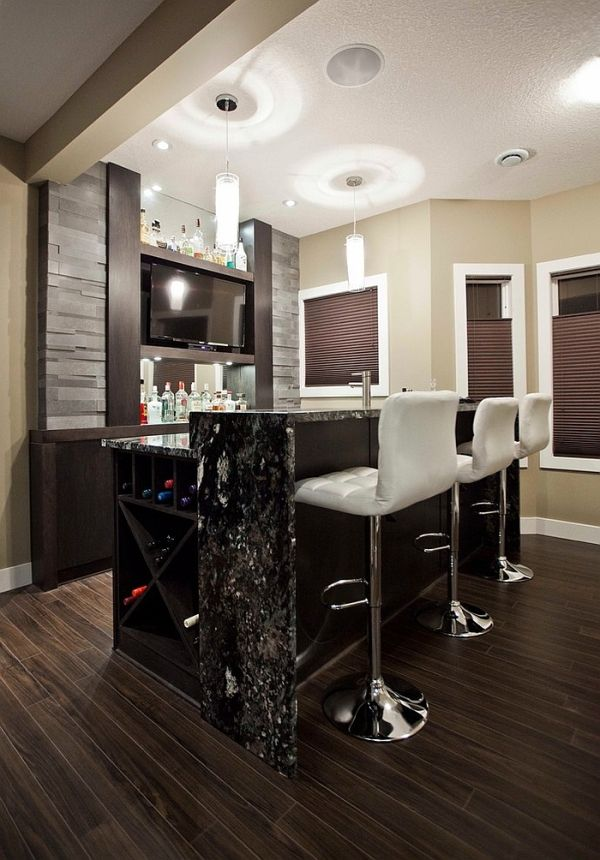Gorgeous Craftsman Style Basement Bar With A Cheerful Ambiance Interesting Design Basement Style