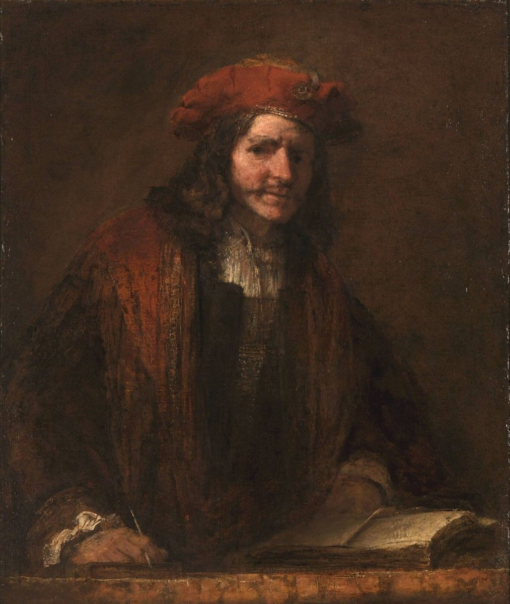 De man met de rode muts, Rembrandt van Rijn, circa 1660 | Museum Boijmans Van Beuningen