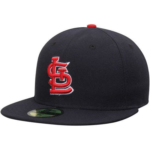 Men's New Era Navy St. Louis Cardinals AC On-Field Alternate 1 Performance  Fitted Hat