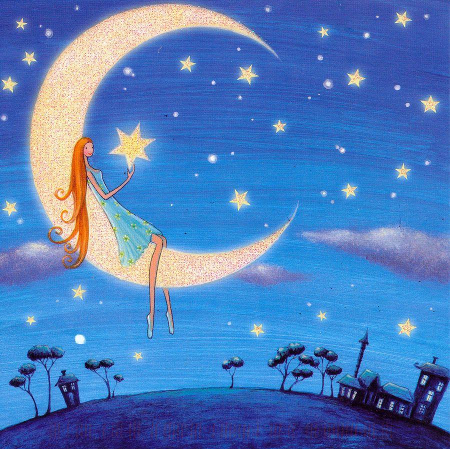 Открытки о ночном небе, тебя люблю хочу
