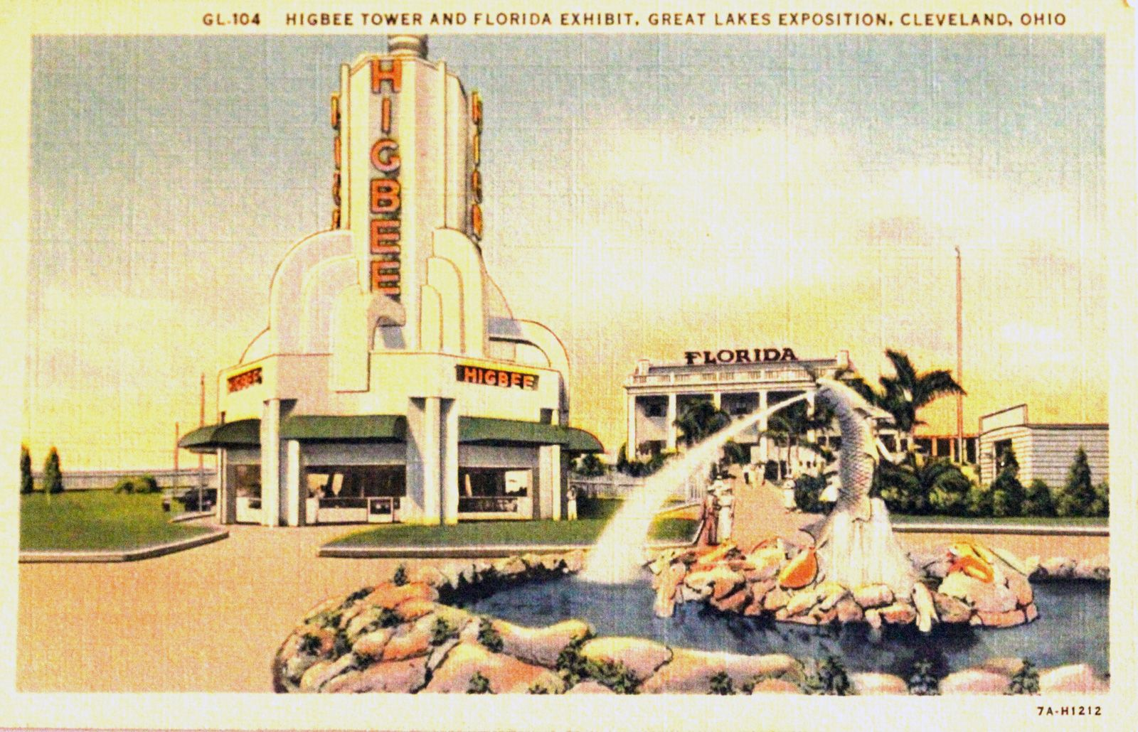 Higbee Tower and Florida Exhibit. The Great Lakes Exposition was held in Cleveland, Ohio in 1936 and 1937.