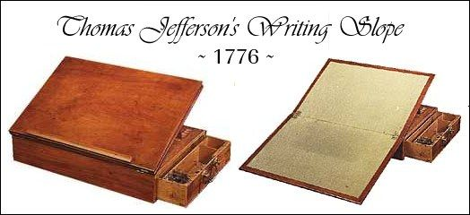 Schleining Built A Copy Of Jefferson S Writing Desk Only 5 Lb Designed By Thomas And