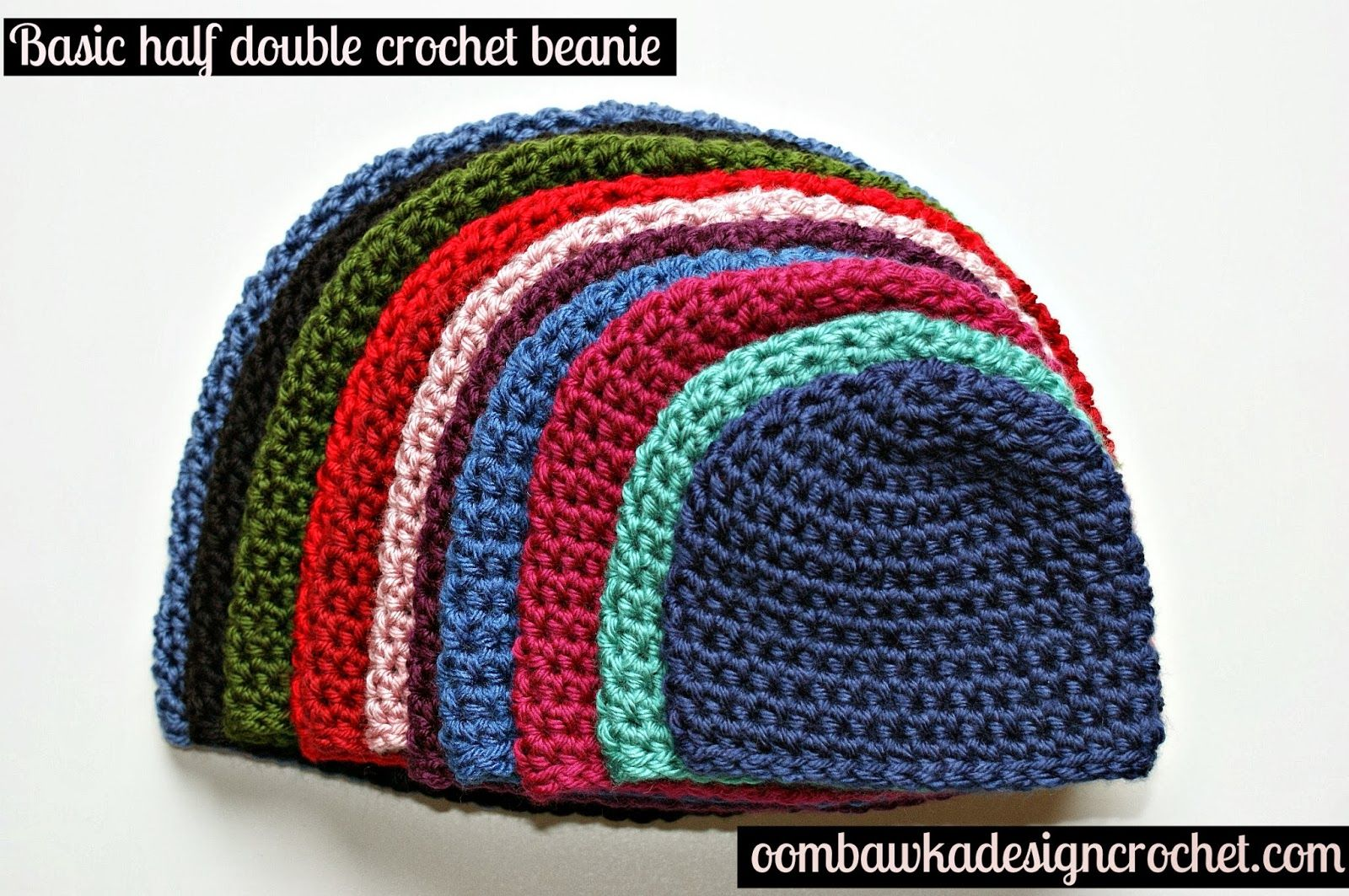 b066b775aa8 Oombawka Design  Crochet   Free Crochet Pattern - Half Double Crochet Hat  Pattern FROM Preemies to Adults