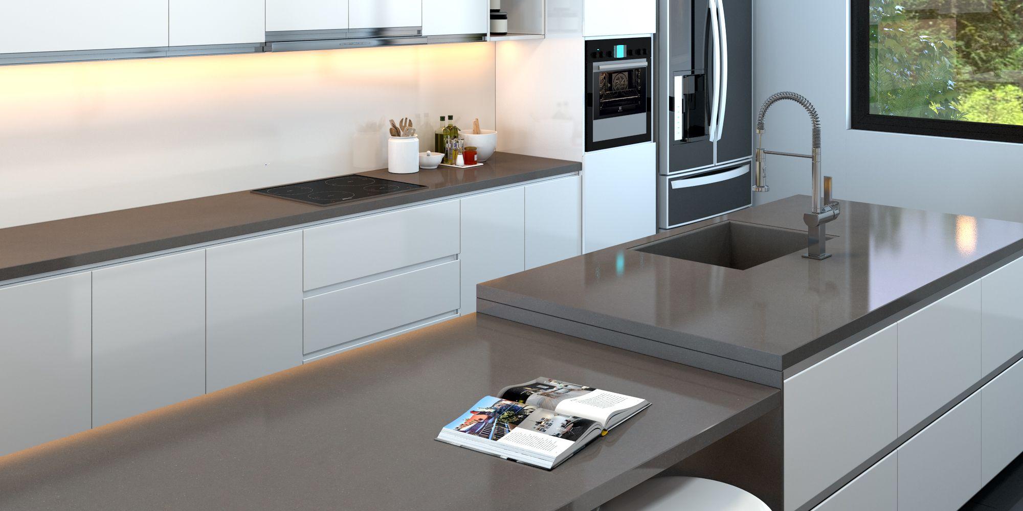 BQ2202 - Sabbianco #Vicostone #Quartz #Countertops #interiordesigns ...