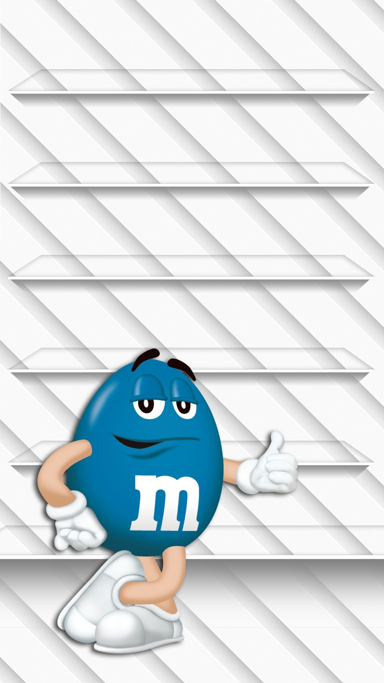 TAP AND GET THE FREE APP! Shelves M&M's Blue White