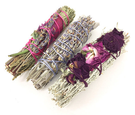 Energy Cleansing Smudge Wand Soy Candle With Lavender Sage /& Rose