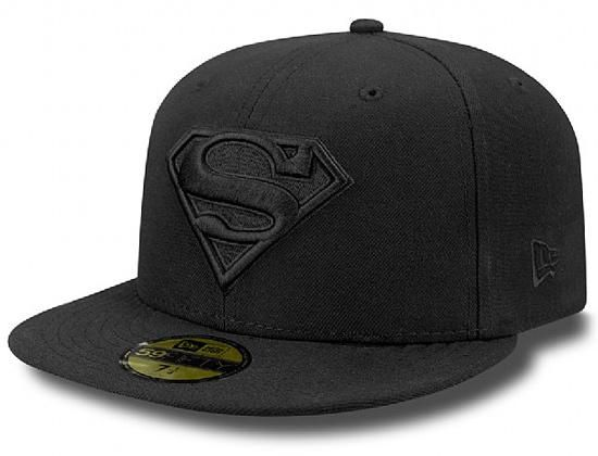 Tonal Black Superman 59Fifty Fitted Cap by DC COMICS x NEW ERA ... 92f367942af8