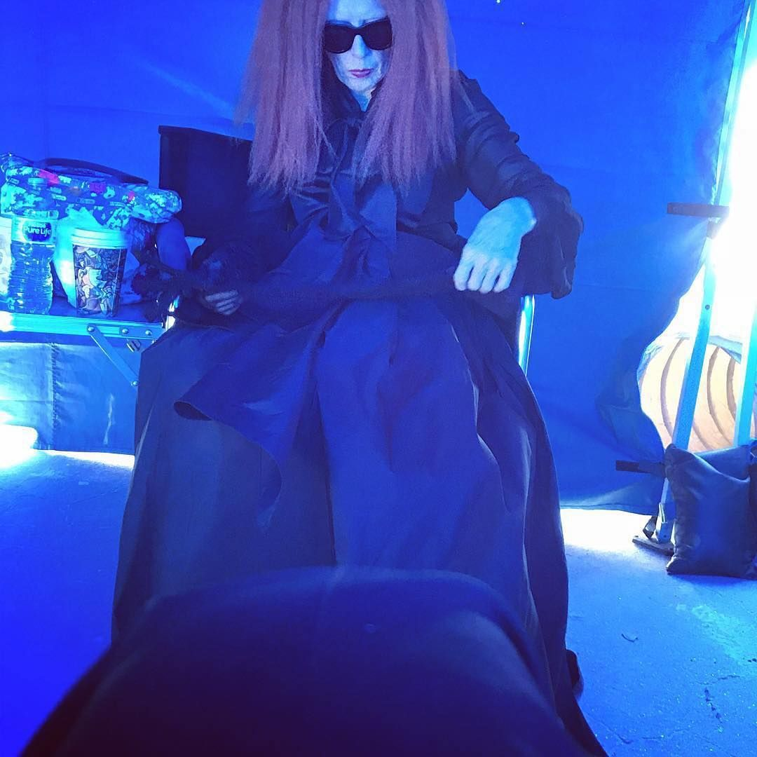 Frances Conroy, Myrtle Snow, behind the scenes of AHS Apocalypse #ahsapocalypse