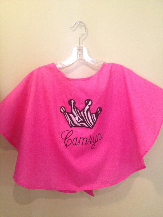 Pageant hair makeup cape PERSONALIZED with name on Etsy