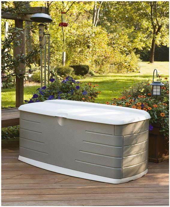 Cool Rubbermaids Outdoor Cushion Storage Bench Large Deck Box Machost Co Dining Chair Design Ideas Machostcouk