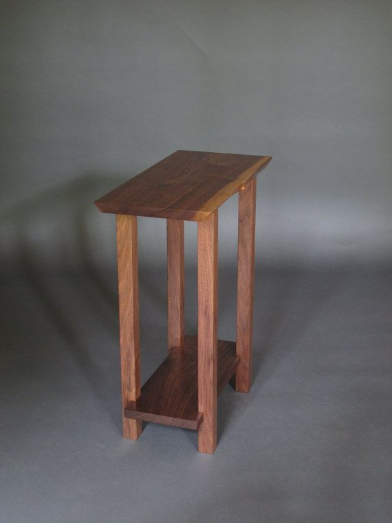 small narrow nightstand modern wood furniture live edge narrow bed side table end