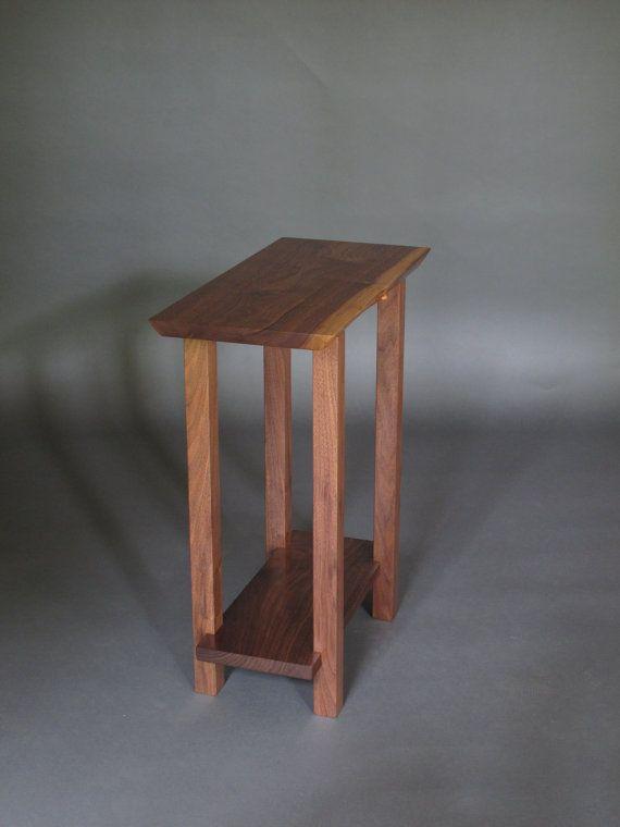 Small Narrow Nightstand Modern Wood Furniture live edge
